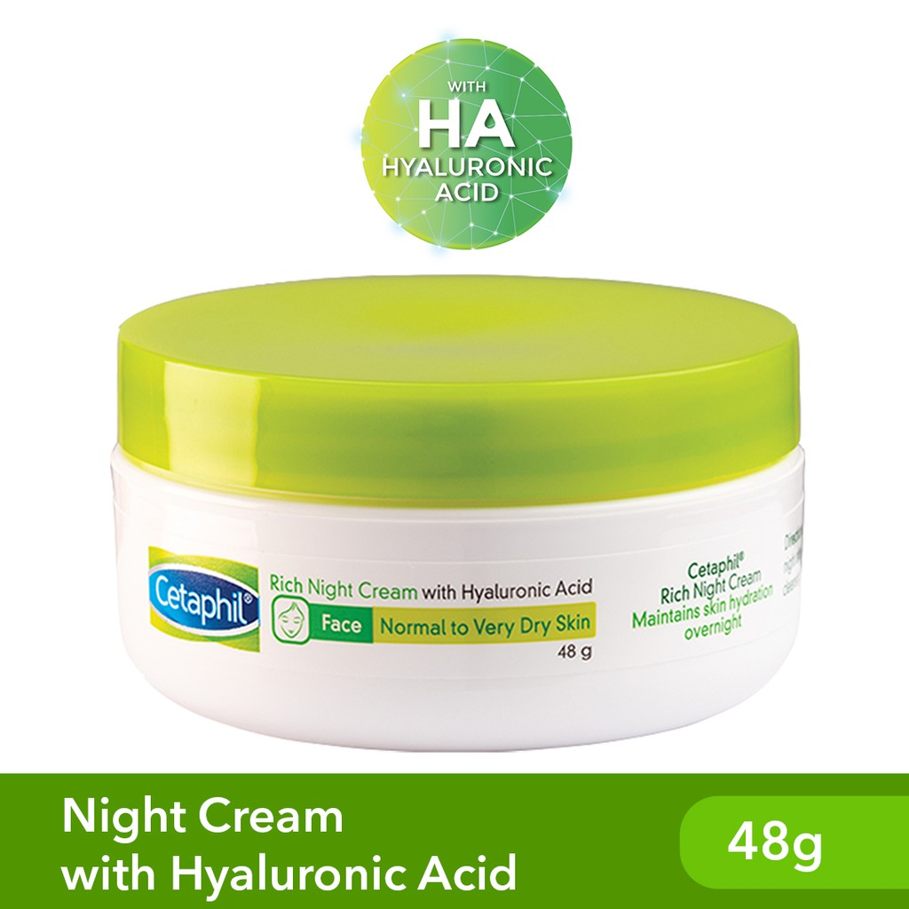 Cetaphil Rich Night Cream 48g [For Sensitive Skin / Moisturizing / with Hyaluronic Acid]