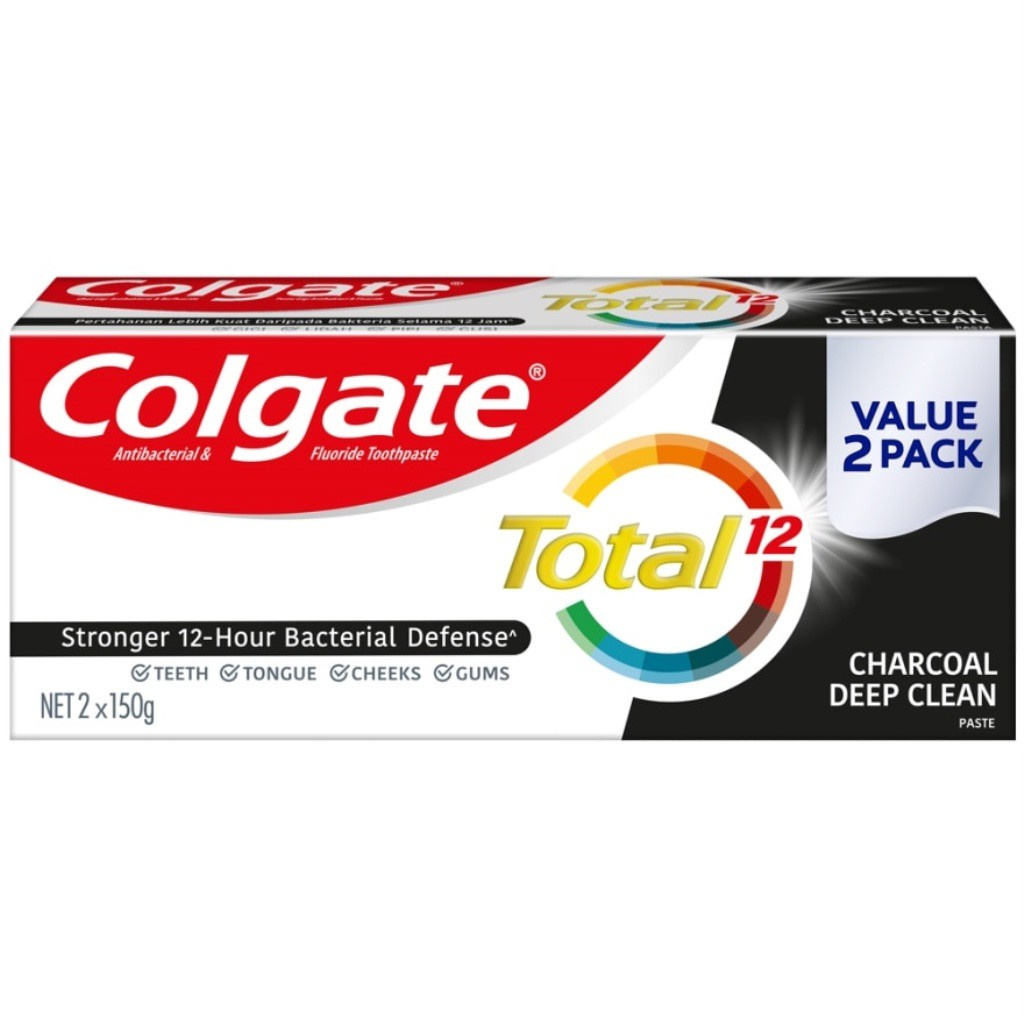 COLGATE Charcoal Deep Clean Toothpaste 2x150g