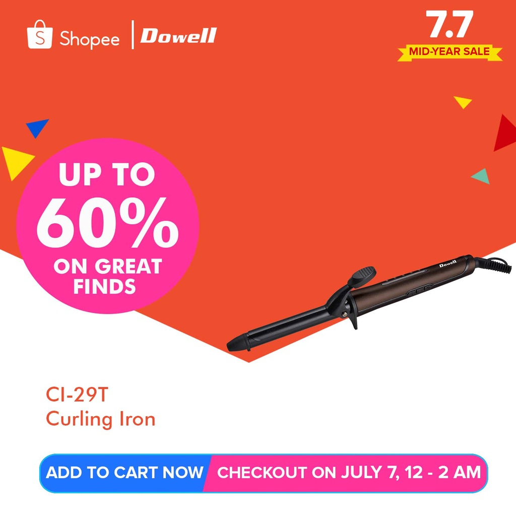 Dowell CI-29T Curler Hair Roller Curling Irons
