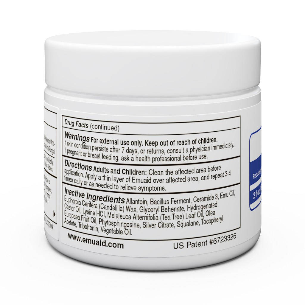 EMUAID® First Aid Ointment 2oz - Anti-fungal, Eczema Cream Provides Relief for 100+ Resistant Skin Conditions