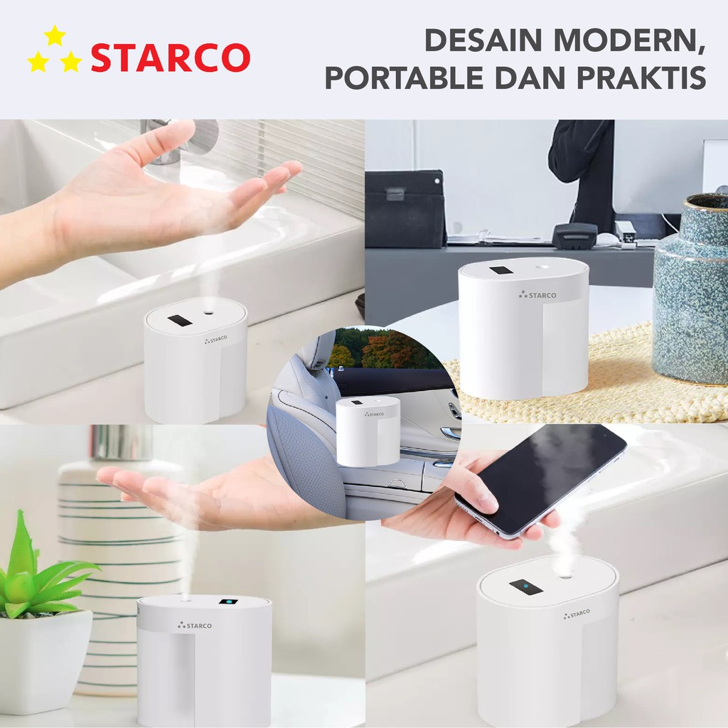 Starco Touchless Automatic Hand Sanitizer Spray / Sterilizer / Disinfectant Dispenser 100ml