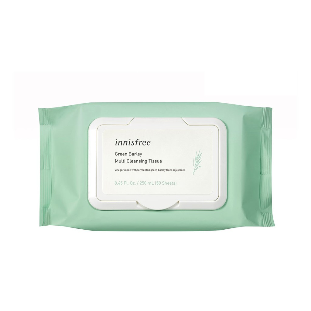 innisfree Green Barley Multi Cleansing Tissue 50 Sheets