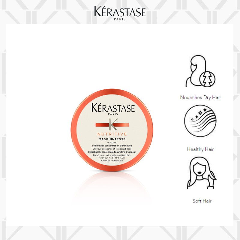 Travel sized - Masquintense Thick Hair is rich nourishing treatment mask thick and dry hair in need of nutrition
