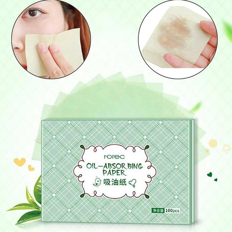 COCUTE 100pcs Face Oil Blotting Paper Wipes Facial Cleanser Oil Control Shrink Pore Face Cleaning Tool