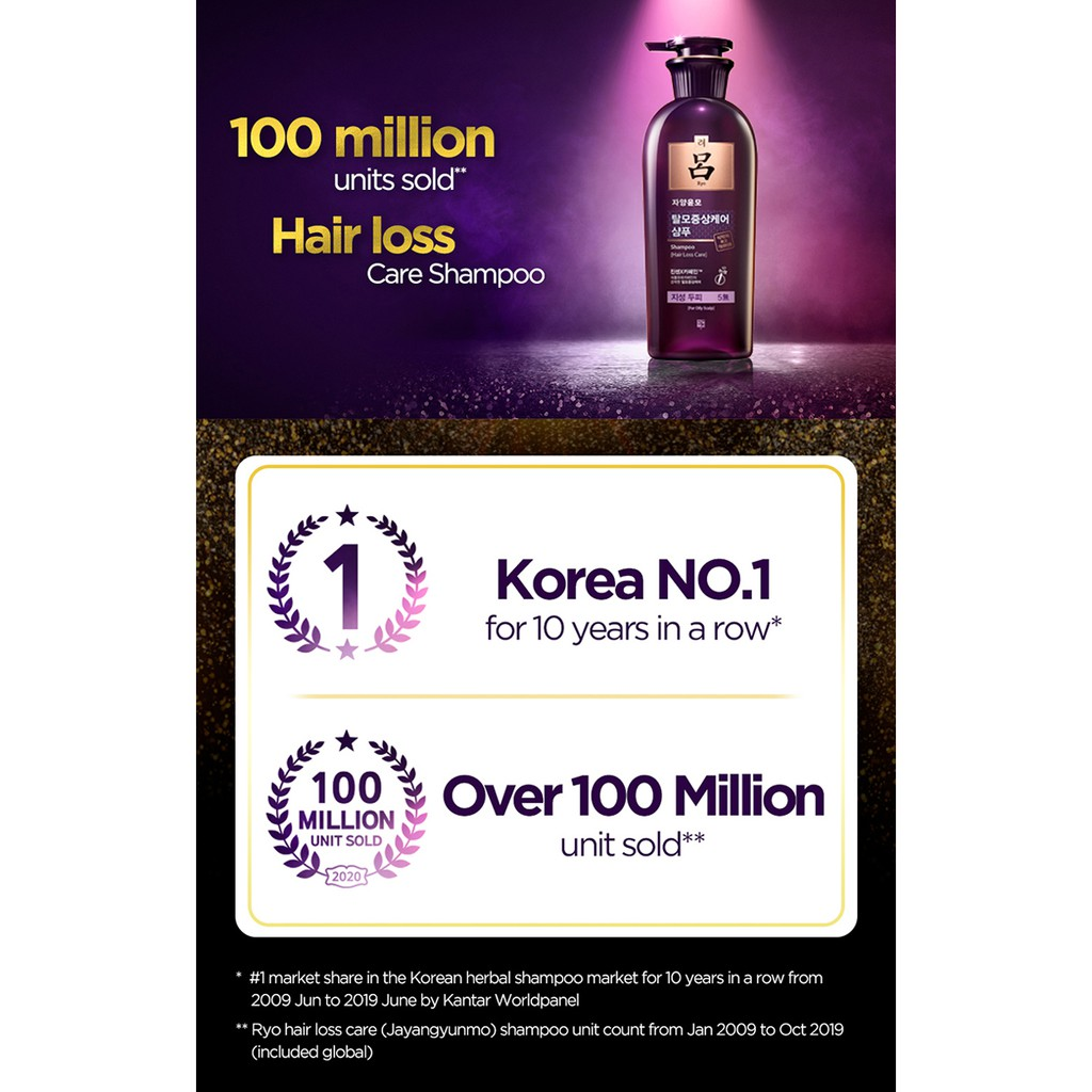 Ryo Hair Loss Care Shampoo for Normal/Dry Scalp AD 400ml New & Improved Formula