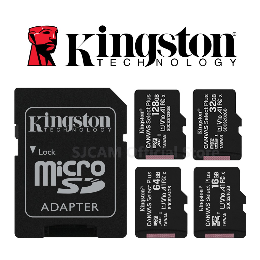 Kingston Micro SD Card 16,32,64,128 GB SDCS2 Canvas Select Plus Class10 UHS-I 100MB/s มี SD Adapter ประกัน Lifetime