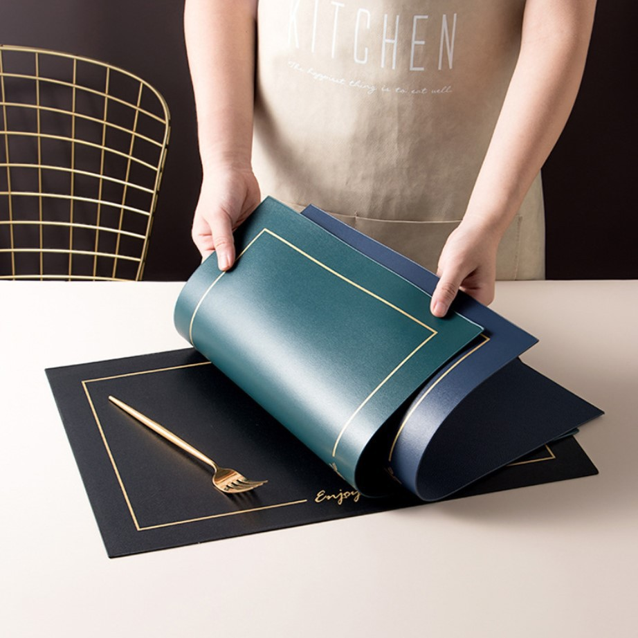 [OMMO] - Placemat Leather Exclusive Enjoy Life