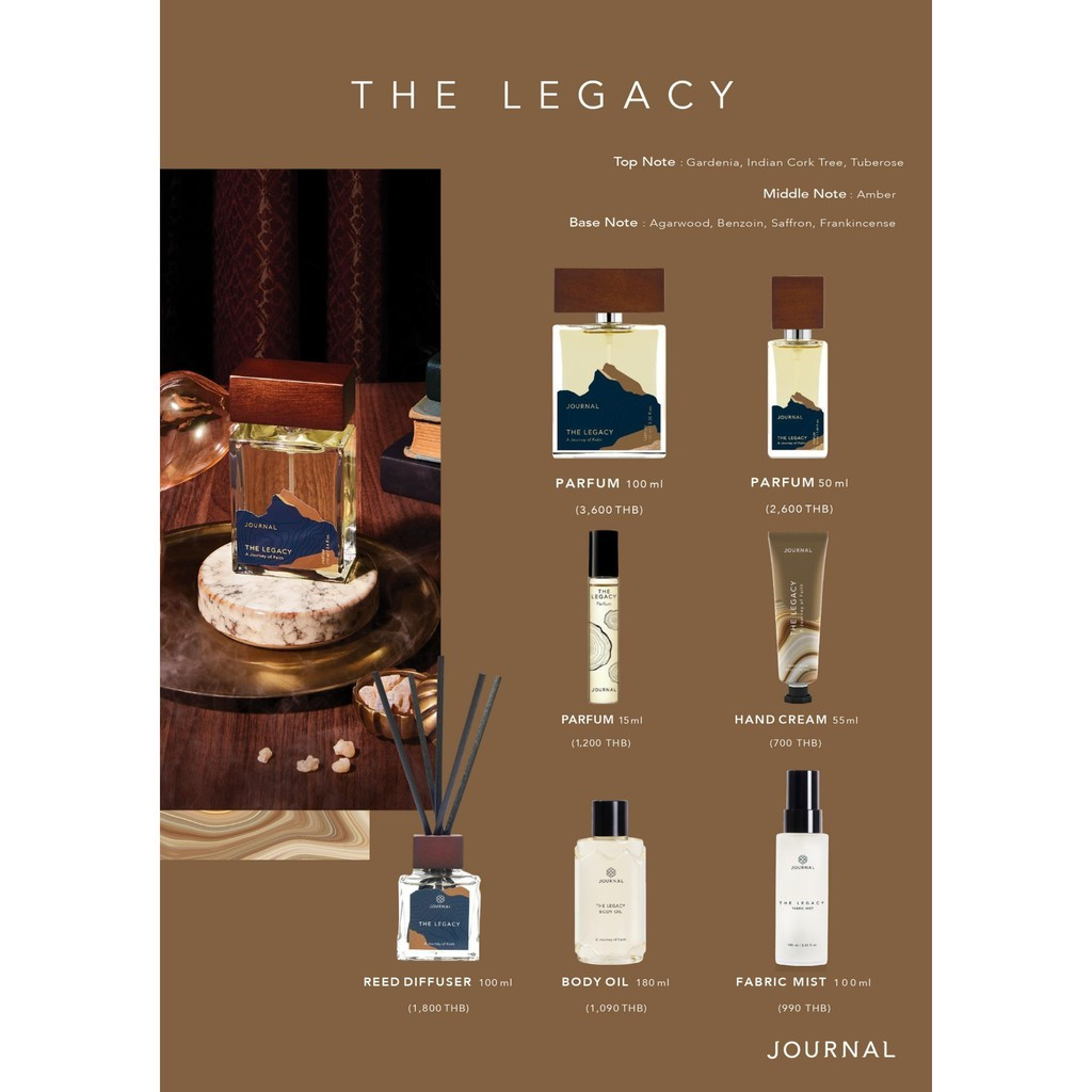 Journal The Legacy  Reed Diffuser 100ml
