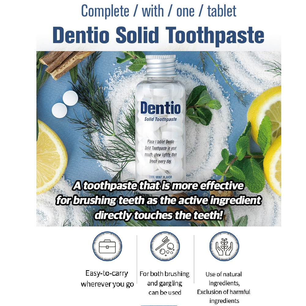 [DENTIO] Solid Whitening Toothpaste 60 Tablets