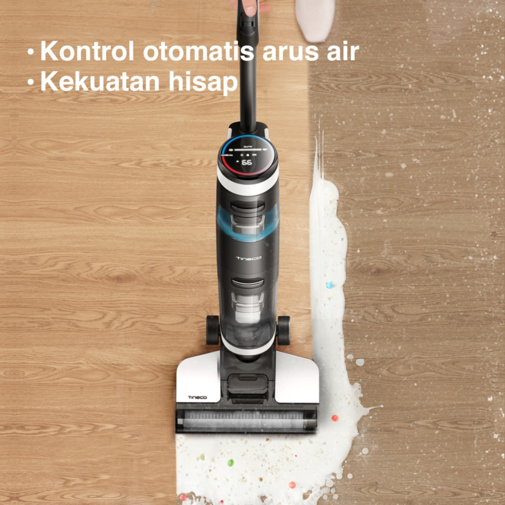 Tineco Floor One S3 Smart Wet Dry Cordless Stick Handheld Vacuum Cleaner and Floor Scrubber Washer