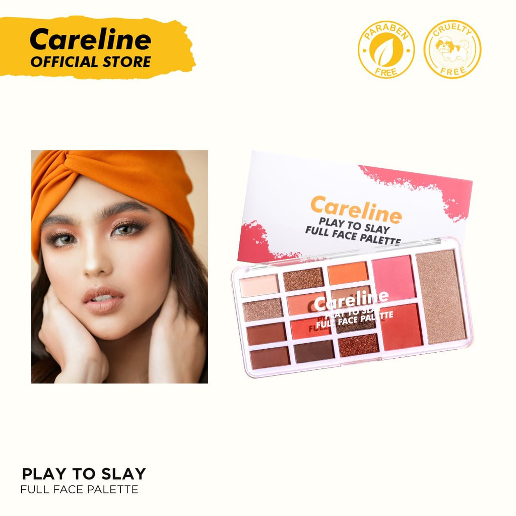 Careline Play to Slay Palette [Eyeshadow, Highlighter, Blush on, Makeup]