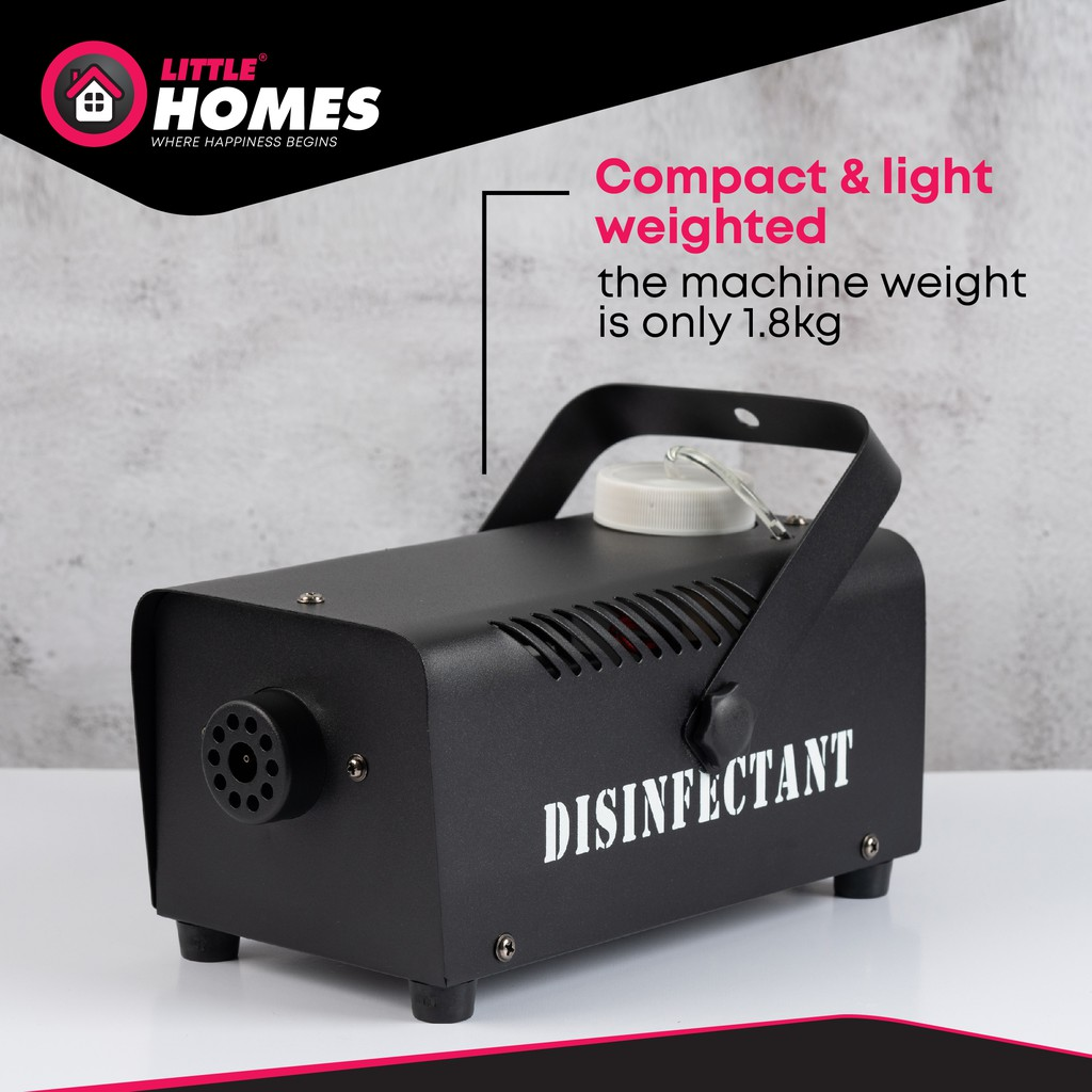 Little Fiz 400W Spray Disinfectant Smoke Machine with Remote- Protect your family/area from unwanted bacteria/germs