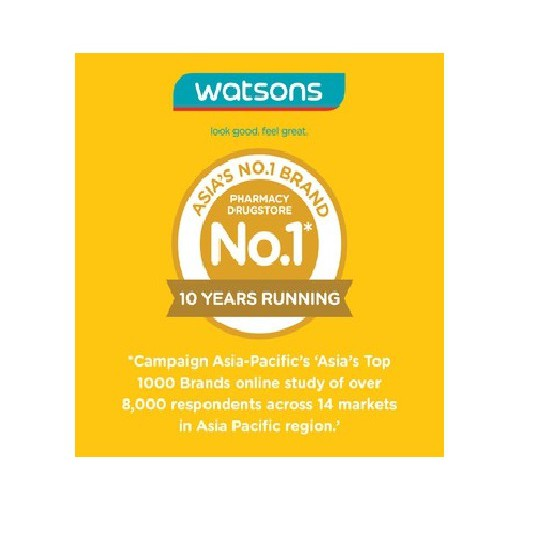 Watsons Facial Cleansing Wipes Oil Control with Micellar Water Cleanses, Soothes and Removes Excess Oil 20s