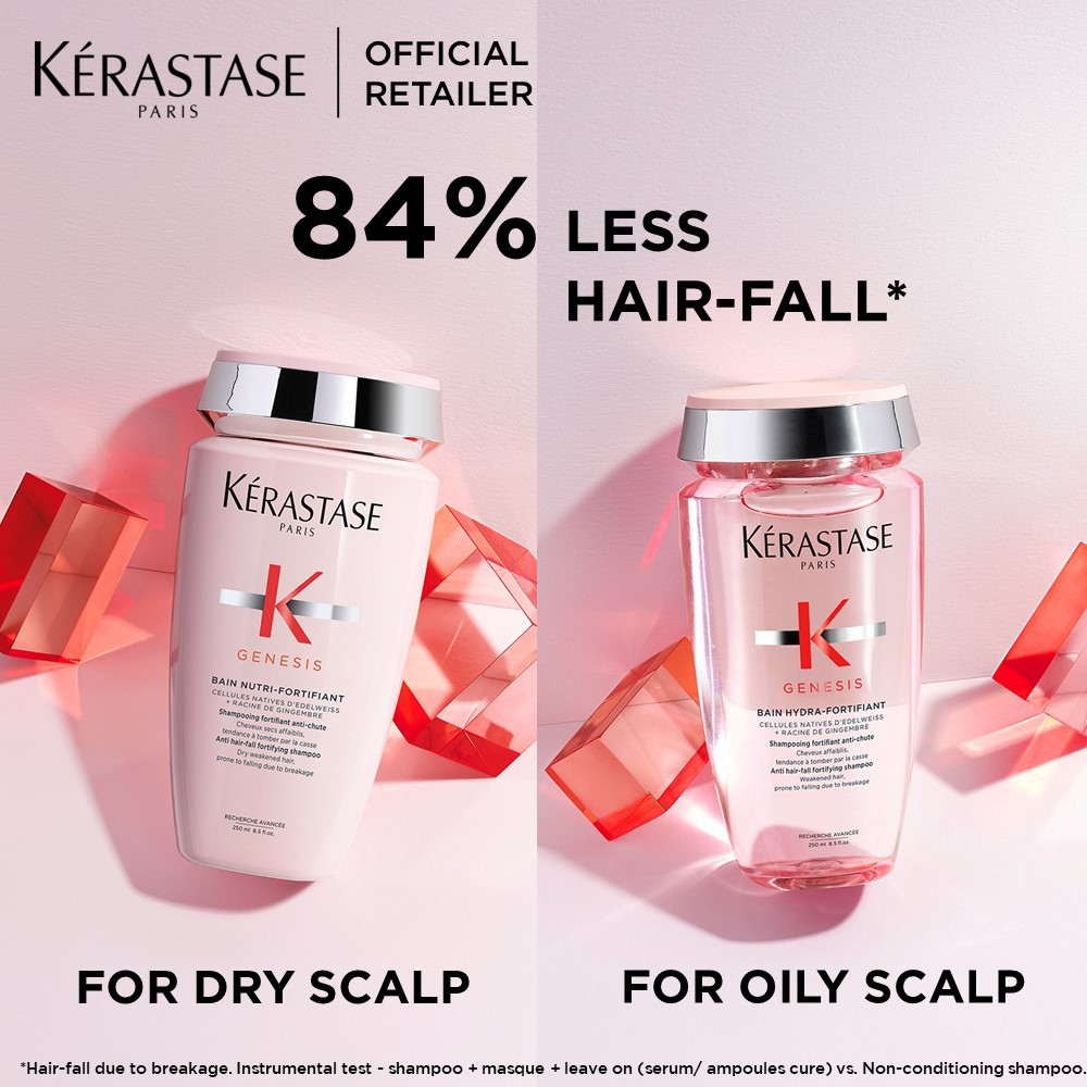 Kerastase Genesis Anti-HairFall Routine for Oily Greasy Hair or Dry Hair with Shampoo and Conditioner