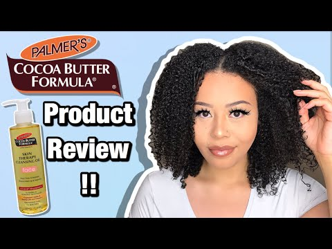 Palmer's Cocoa Butter Formula Skin Therapy Cleansing Face Oil   Product Review