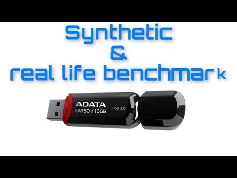rd #296 16GB ADATA UV150 USB 3 0 Synthetic and Real life benchmark