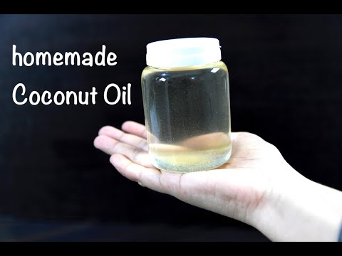 how to make coconut oil at home   homemade Pure Coconut Oil   how to make virgin Coconut Oil