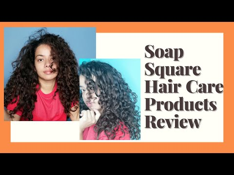 Review & Demo - Soap Square Shampoo Bar , Clay mask and more   CG friendly hair care