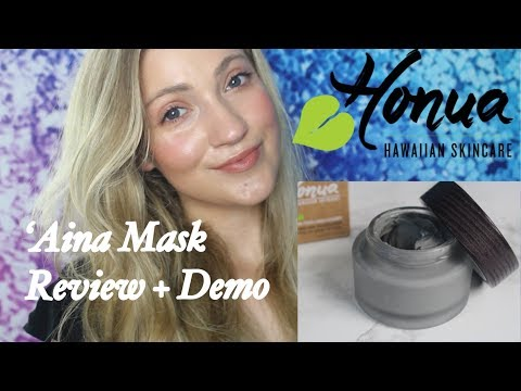 HONUA SKINCARE 'AINA MASK REVIEW + DEMO (CHARCOAL MASK FOR DRY SKIN) // Natural, Organic, Non-Toxic