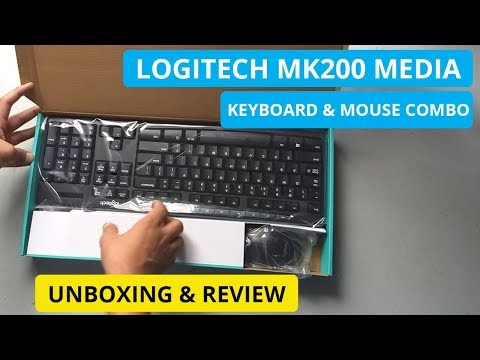 Logitech MK200 Media Keyboard and Mouse Combo Unboxing & Review