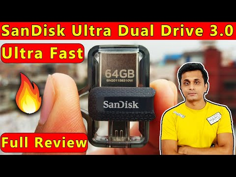 🔥SanDisk Ultra Dual 64 GB USB Drive 3.0 OTG Pen Drive Unboxing😲Read and Write Test in PC and Mobile