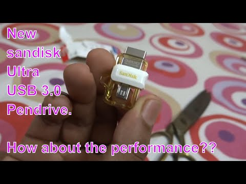 New Sandisk Ultra 32GB OTG Dual USB 3.0 Pendrive | Unboxing, Review & Speed test | Golden