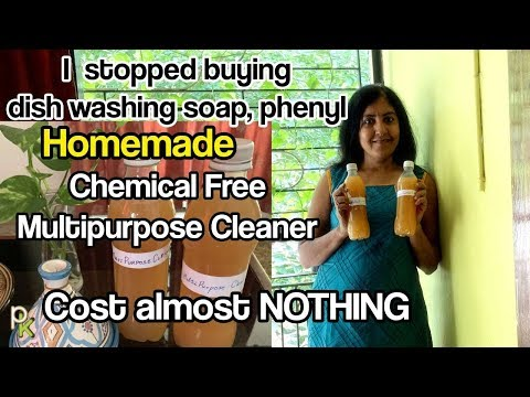 Homemade All Purpose Chemical Free Cleaner-Natural Citrus Enzyme Cleaner Recipe